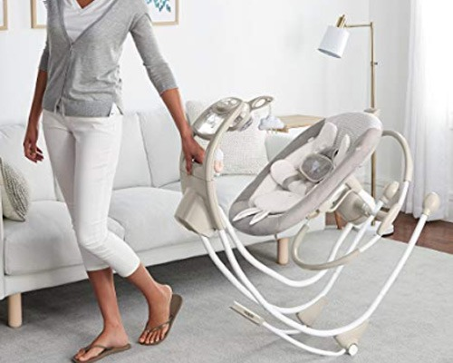 baby swing cradle with wheels