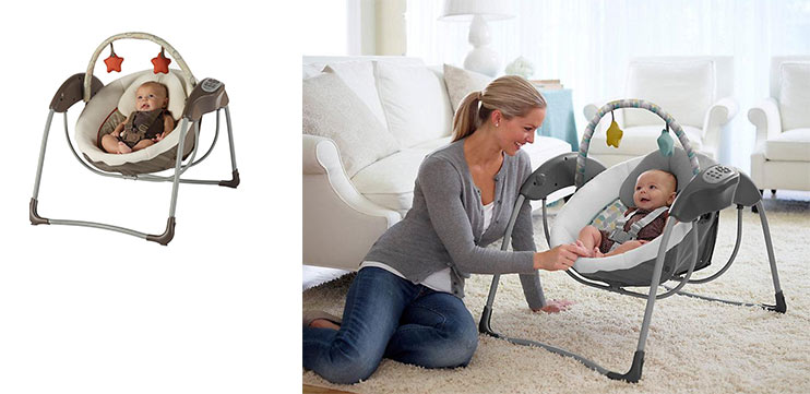 most compact baby swing