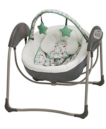travel baby swing that plugs in