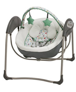 graco slim spaces compact baby swing etcher