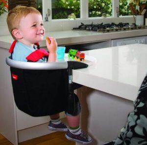 portable baby high chair hook on