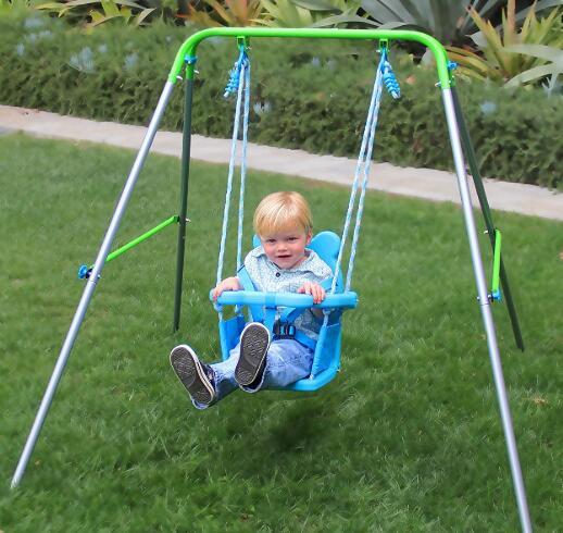 folding toddler swing set