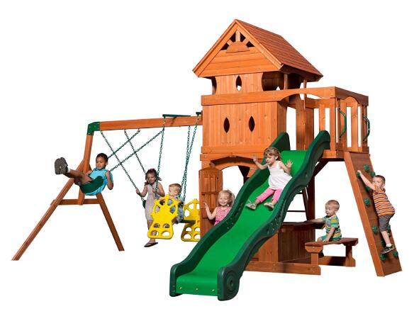 wooden swing frame