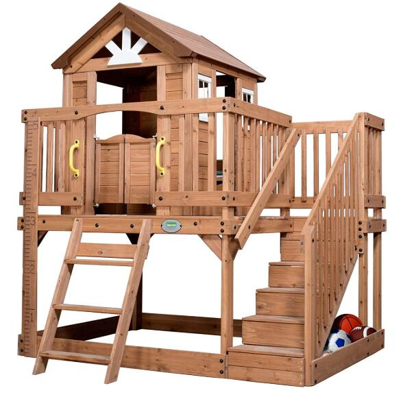 children's outdoor wooden swing sets