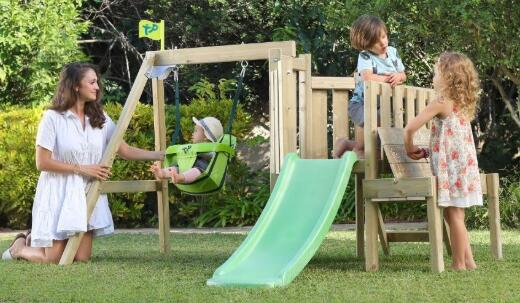 cheap wooden swing sets