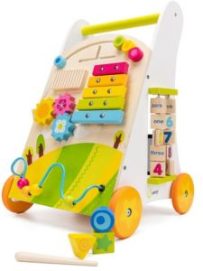 wooden baby walker activity centre