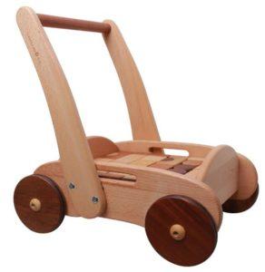wooden walker wagon with blocks
