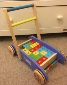 wooden walker push toy