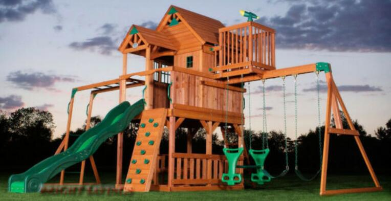 toddler wooden swing set