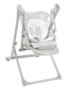 space saving baby swing