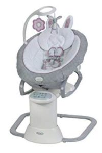baby swing with motorized mobile
