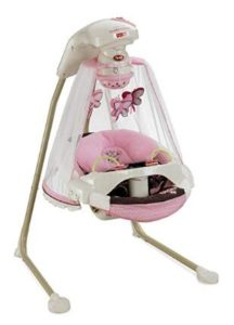 baby girl swing with lights