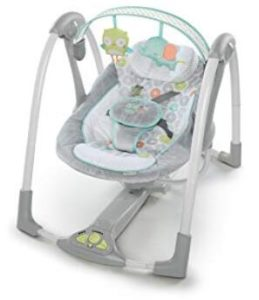 foldable baby swing with harness