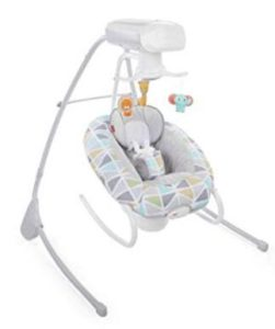 safe for baby to sleep in swing