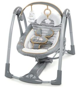 portable rotating baby swing
