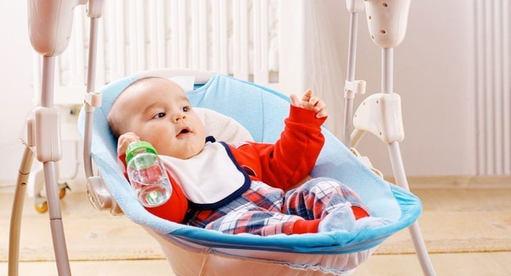 When should a baby stop using a swing?