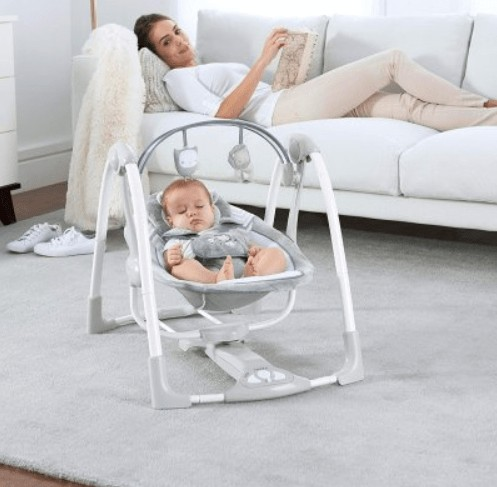 small portable baby swing