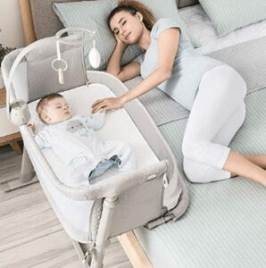 co sleeper bassinet attaches to bed