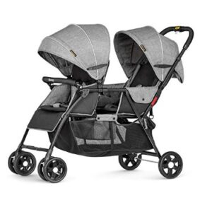double stroller with bassinet