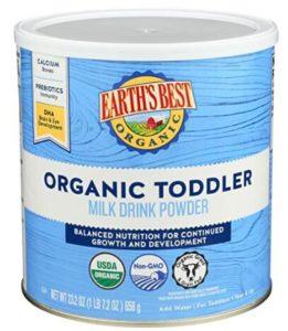 organic toddler formula