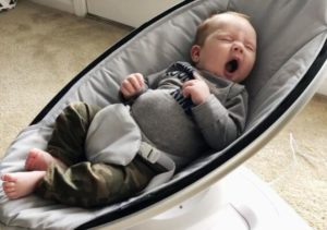 when can baby use swings